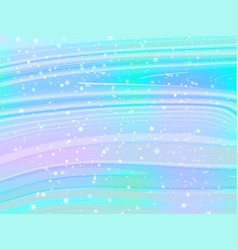 unicorn background with rainbow mesh fantas vector image