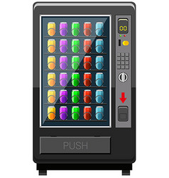 Vending machine fulled of soft drink vector