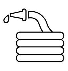 Water hose icon outline style vector