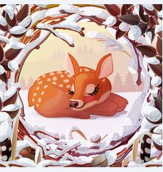 Winter xmas wonderland vector