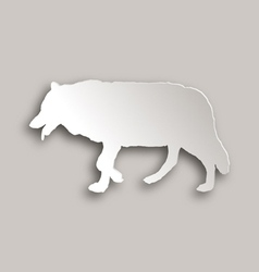 Wolf paper style vector image