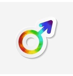 Gender identity icon male mars symbol vector