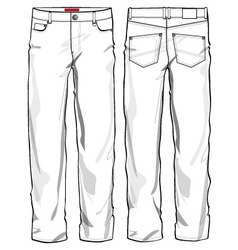 jeans vector image vector image