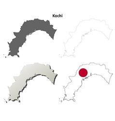 Kochi blank outline map set vector image vector image