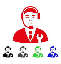 sad call center boss icon vector image vector image