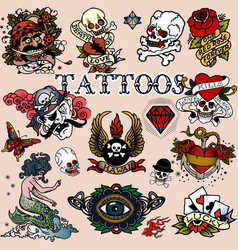 Tattoos 12 vector image vector image