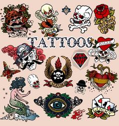 Tattoos 12 vector image