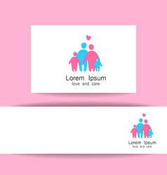 family love logo template vector image vector image
