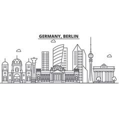 Germany berlin architecture line skyline vector