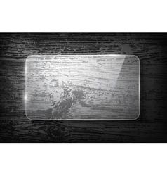 Glass frame on vintage wooden background vector image vector image