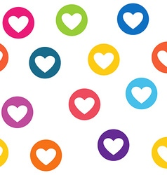 Seamless pattern with colorful hearts circles vector image vector image