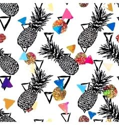 Seamless tropical pattern background with vector image vector image