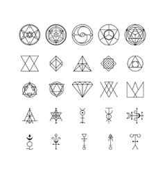Alchemy Thin Line Icon Set vector image vector image