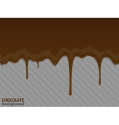 Flowing chocolate drops vector image vector image