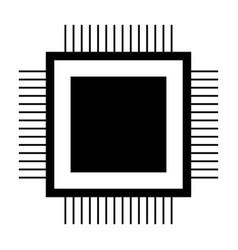 processor the black color icon vector image