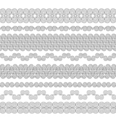 Set of seamless brushes to create frames borders vector