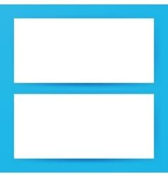 Two Horizontal Blank Banners Mockup vector image vector image