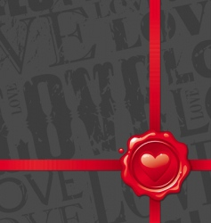valentines design with heart vector image