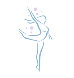 Abstract woman dancing vector image