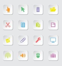 Colorful web icon set 3 vector image vector image