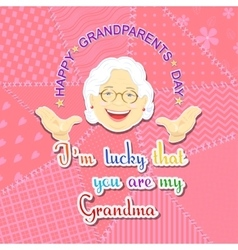 Grandmother and grandfather day vector image vector image