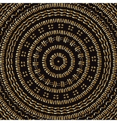 Hand drawn Circular pattern Gold Mandala vector image vector image