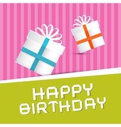 Retro Happy Birthday Theme Present Boxes on vector image vector image