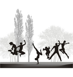Teenagers are enjoying in nature vector