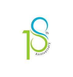 18th anniversary template design vector