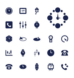 22 dial icons vector