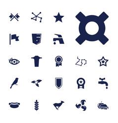 22 emblem icons vector