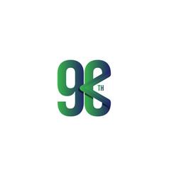 90 th anniversary celebration template design vector