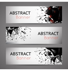 Abstract black explosion banners vector