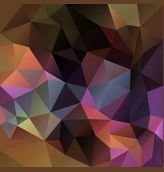 Abstract polygonal square background brown vector