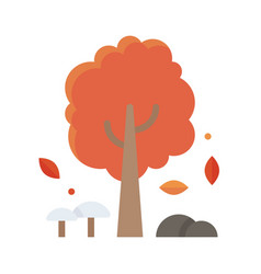 Autumn tree icon thanksgiving related vector