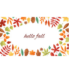 autumnal fall frame autumn leaves and vector image