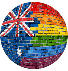 ball with australia and gay flags vector image