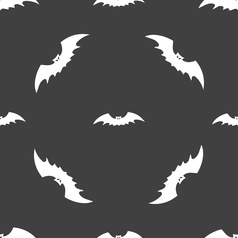 bat icon sign Seamless pattern on a gray vector image