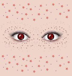 beautiful female eyes vector image