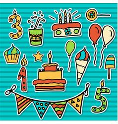 Birthday kids sticker vector