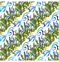 Bluebell flowers pattern vector