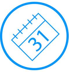 Calendar line icon vector