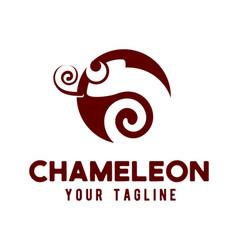 chameleon logo design concept vector image