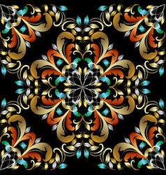 colorful vintage damask seamless pattern vector image