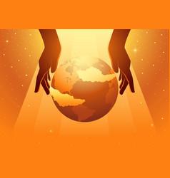 creation world vector image