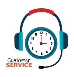 Customer service call center design vector