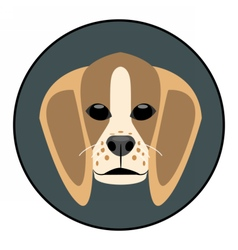 Digital beagle dog face vector