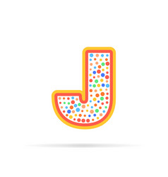 dots and letter j logo with circles and stroke vector image