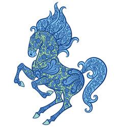 Entangle ornate horse vector