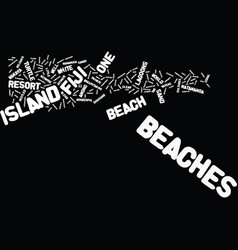 Fiji beaches text background word cloud concept vector